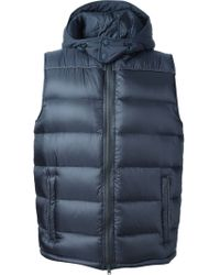 Herno Hooded Padded Gilet - Lyst