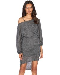 Free People Tidepool Mini Dress black - Lyst