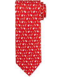 Ferragamo Elephant Mouse Printed Tie - Lyst