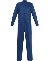 Maison Rabih Kayrouz - Wool Natte Mock Neck Jumpsuit - Lyst