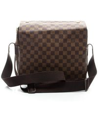 Louis Vuitton Preowned Damier Ebene Naviglio Messenger Bag - Lyst