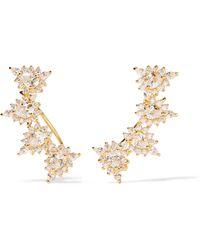 Noir Jewelry - Joslyn Gold-tone Cubic Zirconia Earrings - Lyst