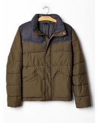 Gap Colorblock Puffer Jacket - Lyst