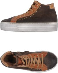 Alviero Martini 1a Classe Brown Hightops  Trainers - Lyst