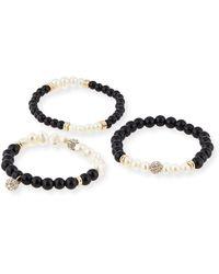 Sequin - Set Of 3 Pearlescent Bracelets - Lyst