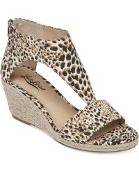 Lucky Brand Women'S Karlenie Wedge Sandals - Lyst