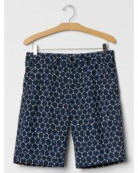 "Gap Classic Dot Print Shorts (11"") blue - Lyst"