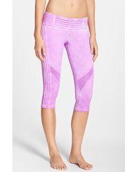 Pink Lotus - 'spark' Oil Washed Pintuck Capri Leggings - Lyst