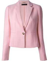 Versace Cropped Jacket pink - Lyst