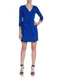 Diane Von Furstenberg New Julian Two Mini Wrap Dress - Lyst