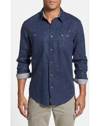 Timberland 'Hubbard River' Regular Fit Linen & Cotton Work Shirt - Lyst