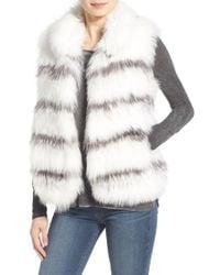 Tasha Tarno - Sleeveless Fox Fur Vest - Lyst