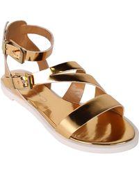 Report Signature Zicco Strap Sandals gold - Lyst