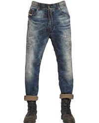 Diesel 18cm Carrot Cotton Jogg Jeans - Lyst