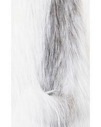 Helen Yarmak International | Feathered Marble Fox Wrap | Lyst