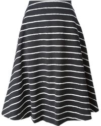 Elizabeth And James Striped Flared Skirt - Lyst