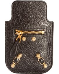 Balenciaga Arena Giant 12 Nickel Smart Phone Pouch - Lyst