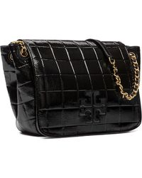 Tory Burch | Marion Quilted Patent Small Flap Shoulder Bag | Lyst