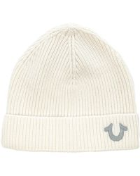 True Religion Ribbed Knit Watchcap - Lyst