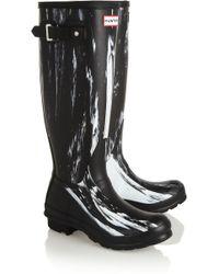 Hunter Printed Tall Wellington Boots - Lyst