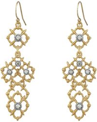 Alexis Bittar Spur Lace Wire Earrings - Lyst