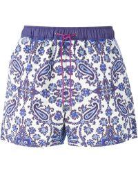 Etro Paisley Print Swim Shorts - Lyst