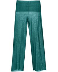 Jean Paul Gaultier Wide Leg Sheer Trousers - Lyst