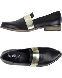Scoop | Metallic-Stripe Calfskin Moccasins | Lyst