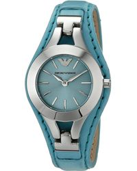 Emporio Armani Blue watches - Lyst