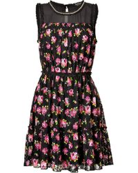 Juicy Couture Lace Roses Dress - Lyst