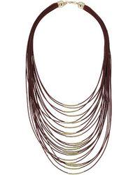 Topshop Multi-Row Thread Necklace - Lyst