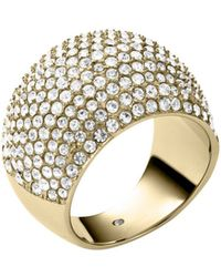 Michael Kors Pavéembellished Goldtone Dome Ring - Lyst