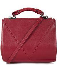 Topshop V Panel Lady Bag - Lyst