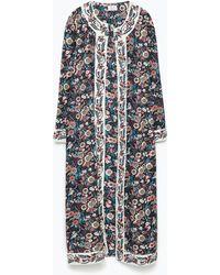 Zara Printed Jacket multicolor - Lyst