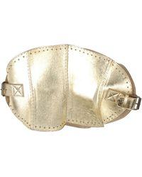 Alexander McQueen Shimmer Leather Wide Belt - Lyst