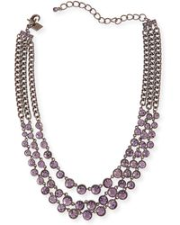 Sequin - Katharine Triple-Strand Crystal Necklace - Lyst