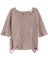 H&M Knitted Top - Lyst