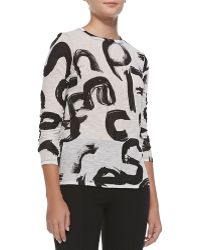 Proenza Schouler Long-sleeve Tissue Jersey Top - Lyst