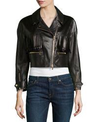 Jason Wu Leather Fringed Motorcycle Jacket - Lyst