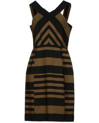 Lanvin Green Kneelength Dress - Lyst