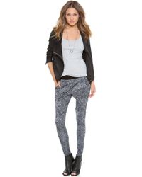 EVLEO - Bubble Bubble Baggy Leggings - Leo Gray - Lyst