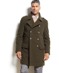 Lauren by Ralph Lauren Lauren by Ralph Lauren Double-breasted Wool-blend Peacoat - Lyst