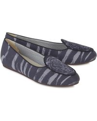 Charles Philip - Grey X Horiyoshi Iii Tiger Print Loafers - Lyst