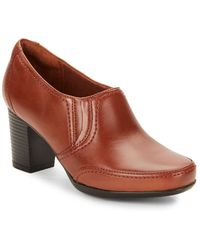 Clarks Promise Chelly Leather Ankle Boots - Lyst