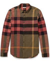 Burberry Brit Cottonflannel Check Shirt - Lyst