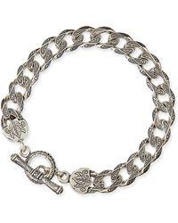 Konstantino Mens Sterling Silver Flat Link Bracelet - Lyst