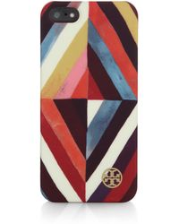 Tory Burch Diamond Printed Iphone 5/5S Case - Lyst