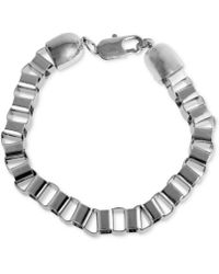 Marc Ecko - Silvertone Box Link Chain Bracelet - Lyst