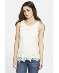 Lucky Brand Lace Tank - Lyst