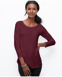 Ann Taylor Woven Front Top - Lyst